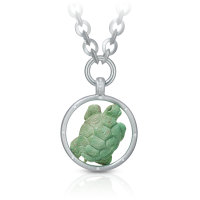 grüner türkis - brillanten - silber