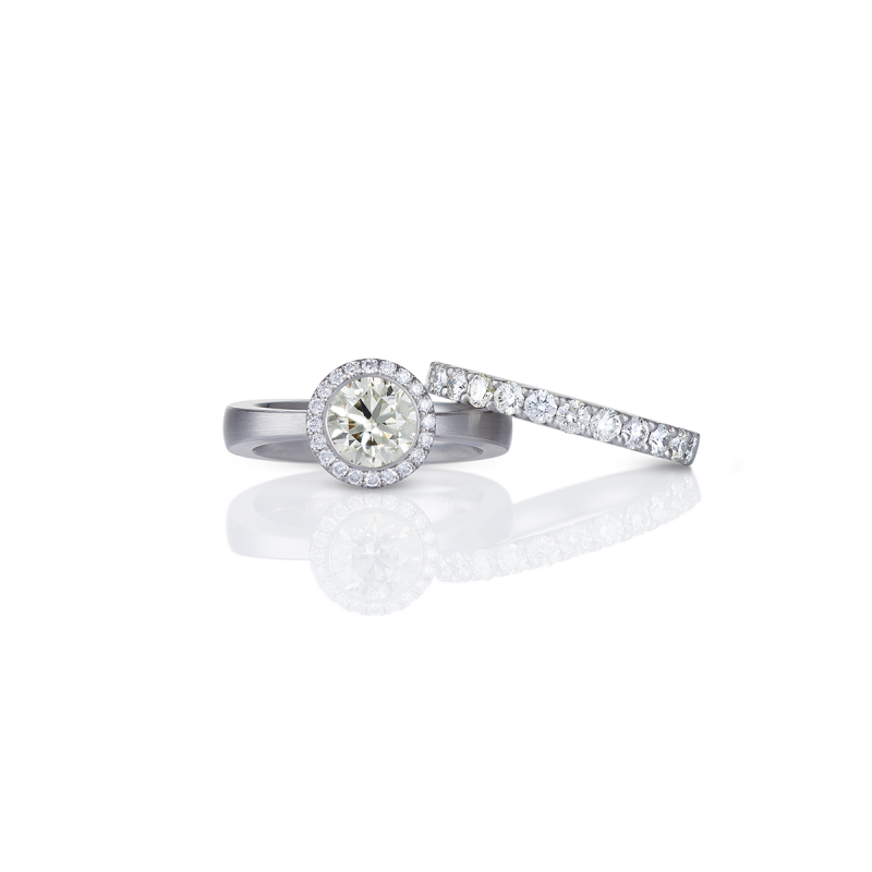 naturfarbener diamant - brillanten - platin