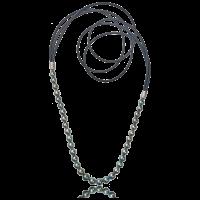 perlen - brillanten - silber - leder